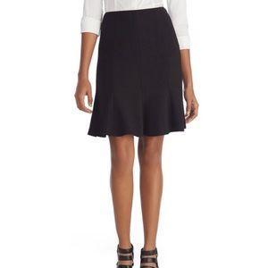WHBM Flirty Black Trumpet Skirt Size 8